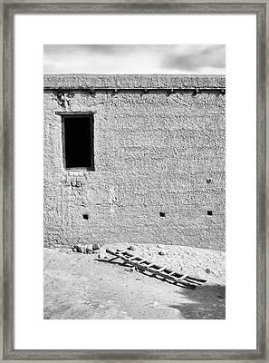 Window And Ladder, Shey, 2005 Framed Print