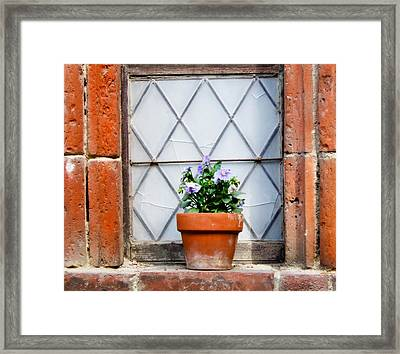 Window And Pots I Framed Print by Carl Jackson