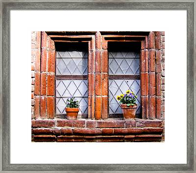 Window And Pots II Framed Print by Carl Jackson