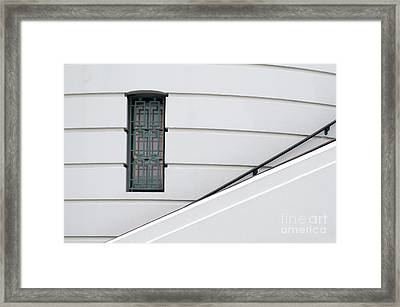Window And Rail Framed Print by Dan Holm