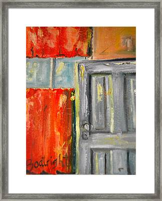 Window And The Pantry Door Framed Print by Diane Fiore