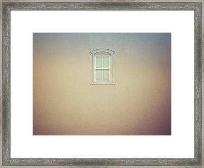 Window And Wall Framed Print