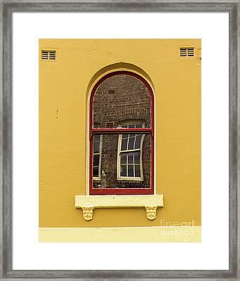 Framed Print featuring the photograph Window And Window 2 by Perry Webster