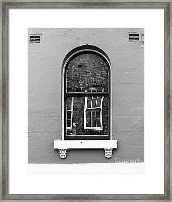 Framed Print featuring the photograph Window And Window by Perry Webster