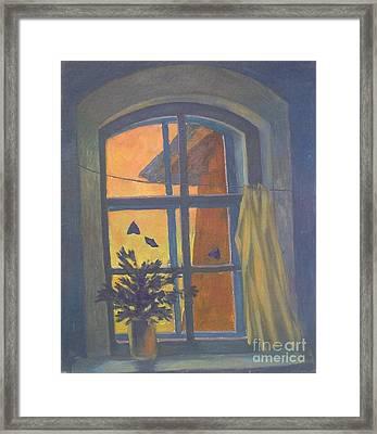 Window Framed Print by Andrey Soldatenko