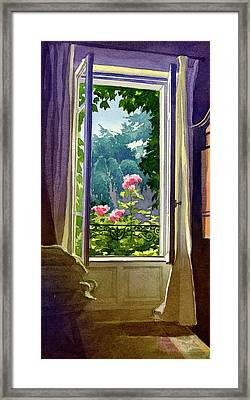 Window At Clermont Framed Print