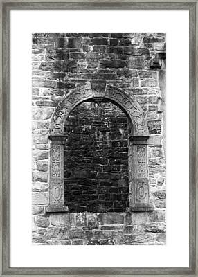 Window At Donegal Castle Ireland Framed Print