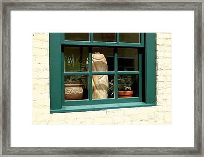 Window At Sanders Resturant Framed Print