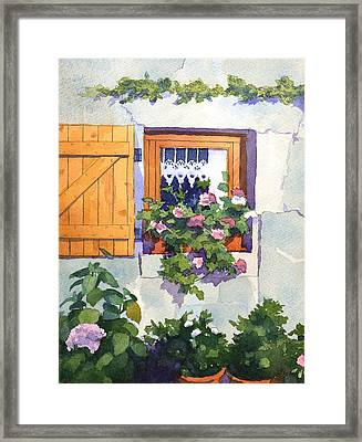 Window At St Saturnin Framed Print