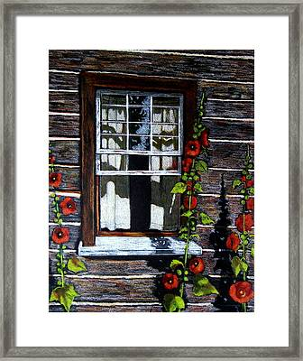 Window At Upper Canada Village Framed Print