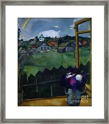 Window At Vitebsk Framed Print