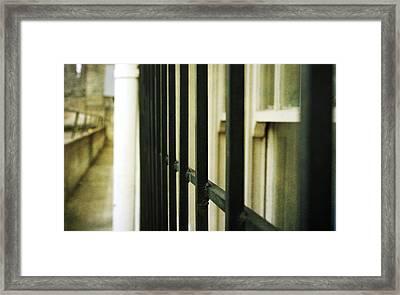 Window Bars Framed Print by Cathie Tyler
