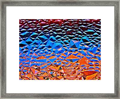 Window Batik Framed Print