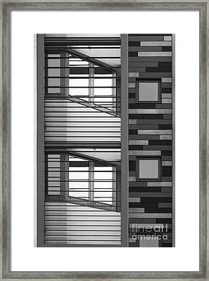 Vertical Horizontal Abstract Framed Print by Wendy Wilton