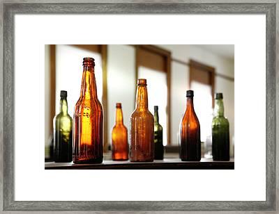Window Bottles Framed Print