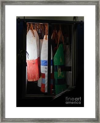 Window Buoys Key West Framed Print
