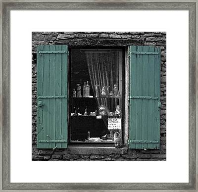 Window Cat Framed Print by Rob Outwater