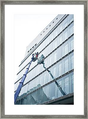 Window Cleaning Framed Print by Tom Gowanlock