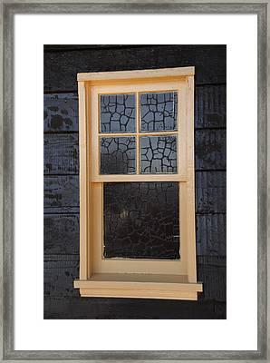 Window Crackle Framed Print