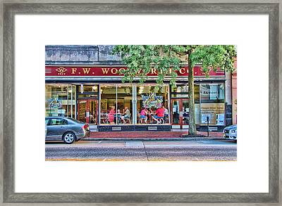 Window Dining Framed Print