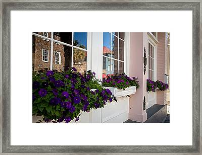 Window Flower Boxes Framed Print by Gestalt Imagery