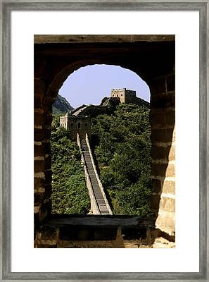 Window Great Wall Framed Print by Bill Bachmann - Printscapes