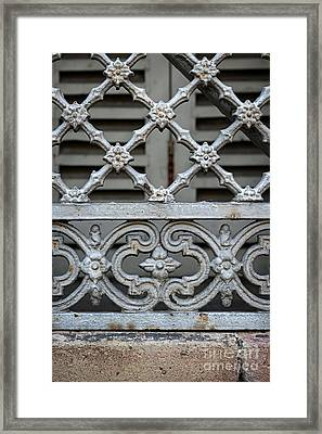 Window Grill In Toulouse Framed Print by Elena Elisseeva