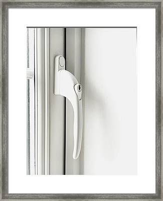 Window Handle Framed Print by Tom Gowanlock