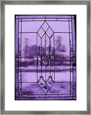Window I Framed Print by Anna Villarreal Garbis
