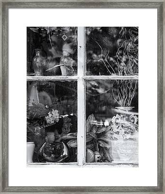 Window In Black And White Framed Print by Tom Singleton