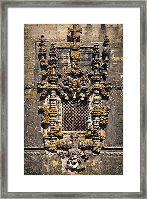 Window In Convent Of Christ - Tomar Framed Print