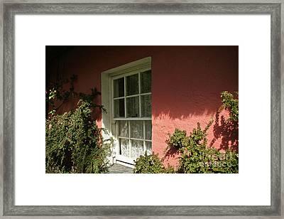 Window In Ireland Framed Print by Christine Amstutz