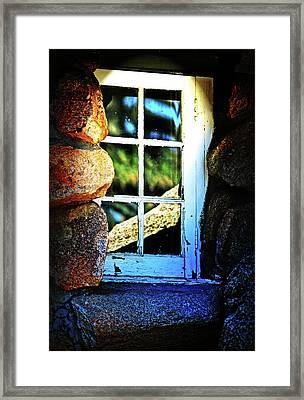 Window In Rock Framed Print