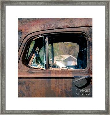 Window In Rural America  Framed Print by Steven Digman