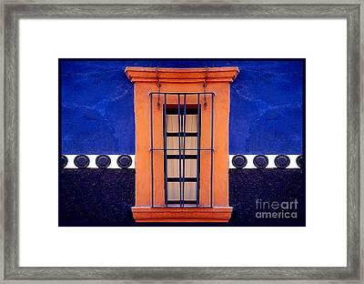 Window In San Miguel De Allende Framed Print by Linda  Parker