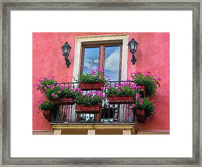 Window In Sicily Framed Print