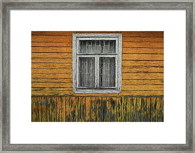 Window In The Old House Framed Print