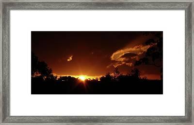 Window In The Sky Framed Print