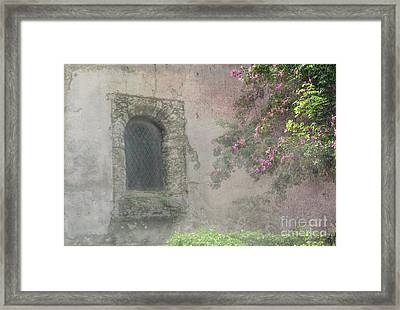 Window In The Wall Framed Print by Victoria Harrington