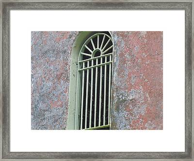 Window In Tower Framed Print by Dotti Hannum