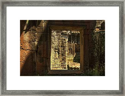 Window Into Angkor Wat Framed Print