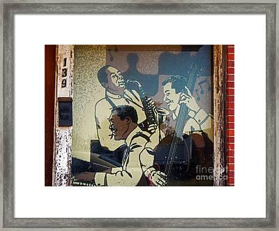 Window Jazz Framed Print by Joy Tudor