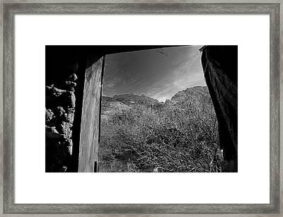 Window Framed Print by John Gee