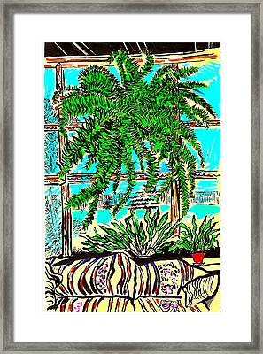 Window Loving Fern Framed Print