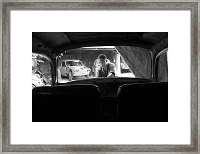 Window Of Work Framed Print by Jez C Self