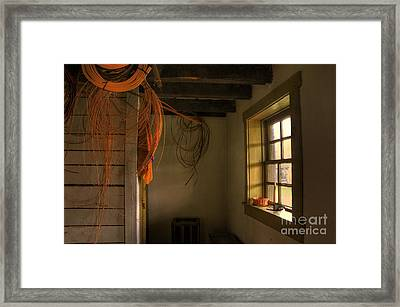 Window On A Rainy Day Framed Print by Lois Bryan
