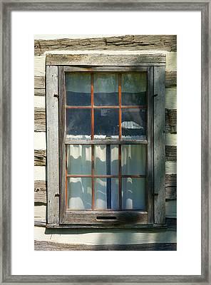 Window On Log Cabin Framed Print by Donald  Erickson