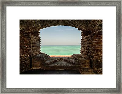 Window On The Gulf Framed Print by Kristopher Schoenleber