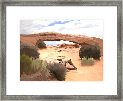 Framed Print featuring the digital art Window On The Valley by Gary Baird