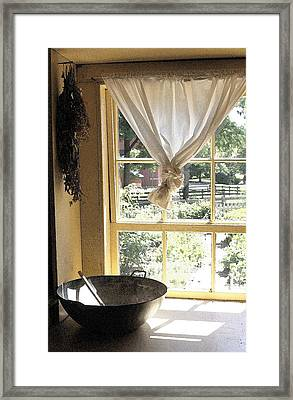 Window On Yesterday Framed Print